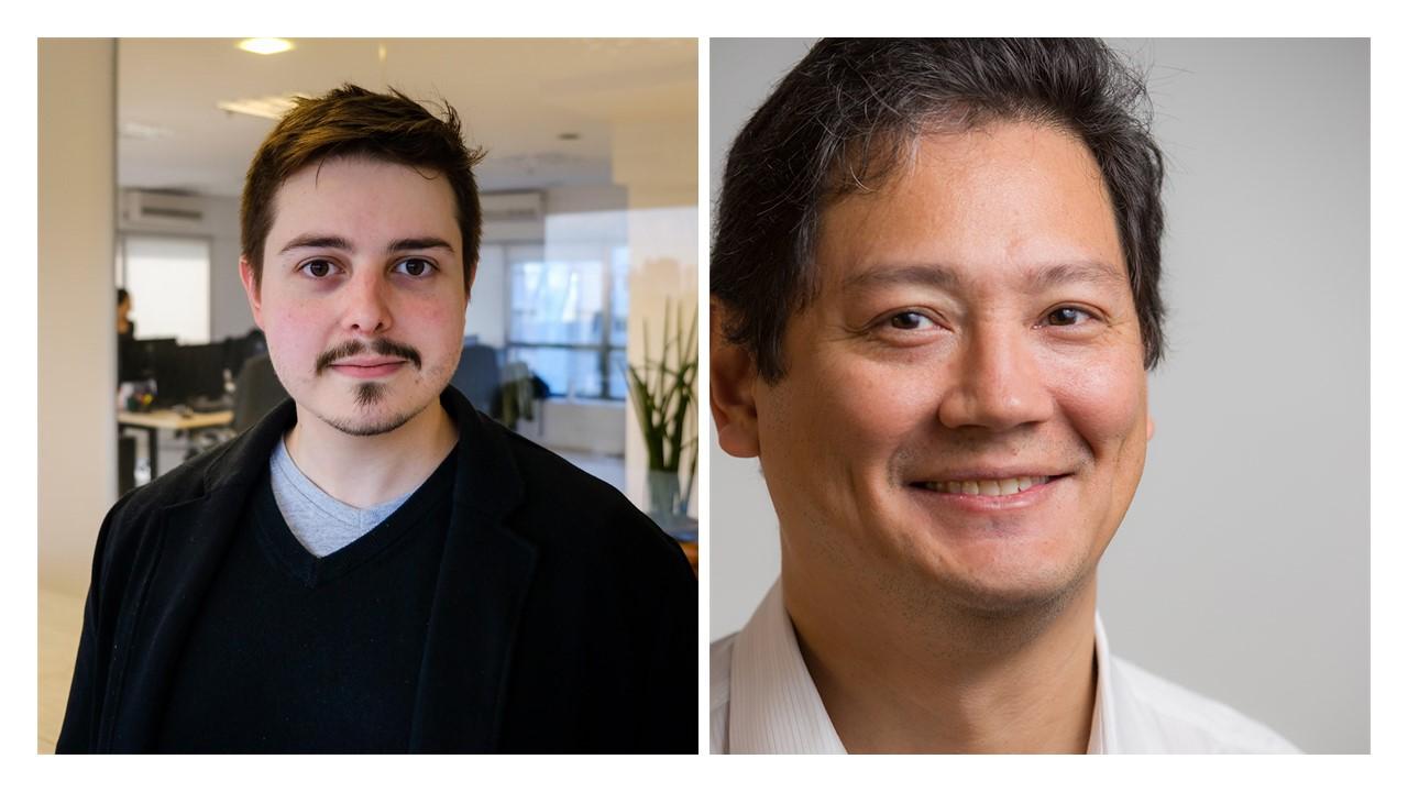 Montagem com as fotos do Fernando Cardoso, diretor de Data Science e Head de Insights (na esquerda), e Deny Watanabe, head de Engenharia (na direita).